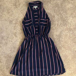 Dresses & Skirts - Casual Dark Blue with Red & White Striped Dress